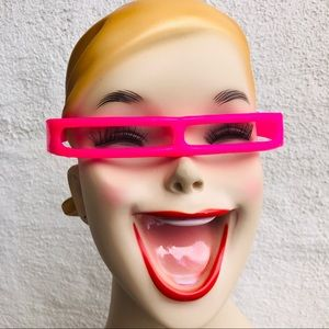 Vintage 80's New Wave party glasses in neon pink